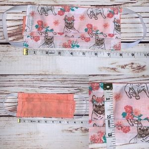Accessories - Firm price Adult pug/floral reversible face mask